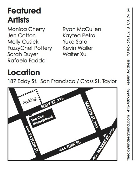 Open Studio flyer back - map to studio